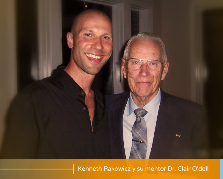 Kenneth Rakowicz y su mentor Dr. Clair O'dell
